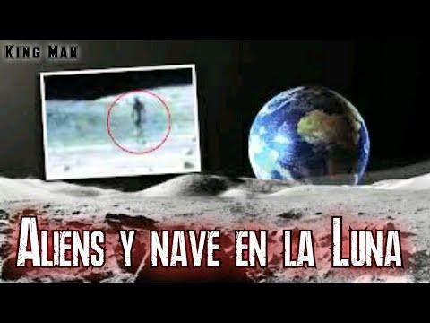 Unos seres extraterrestres y una nave aparecieron en la Luna