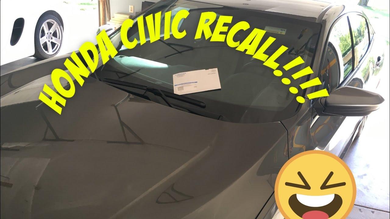 2017 Honda Civc Hatch Recall No