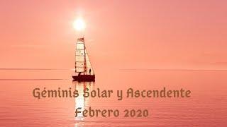 Géminis 🌅🌅🌅Rueda Solar y Ascendente  Febrero 2020!!!