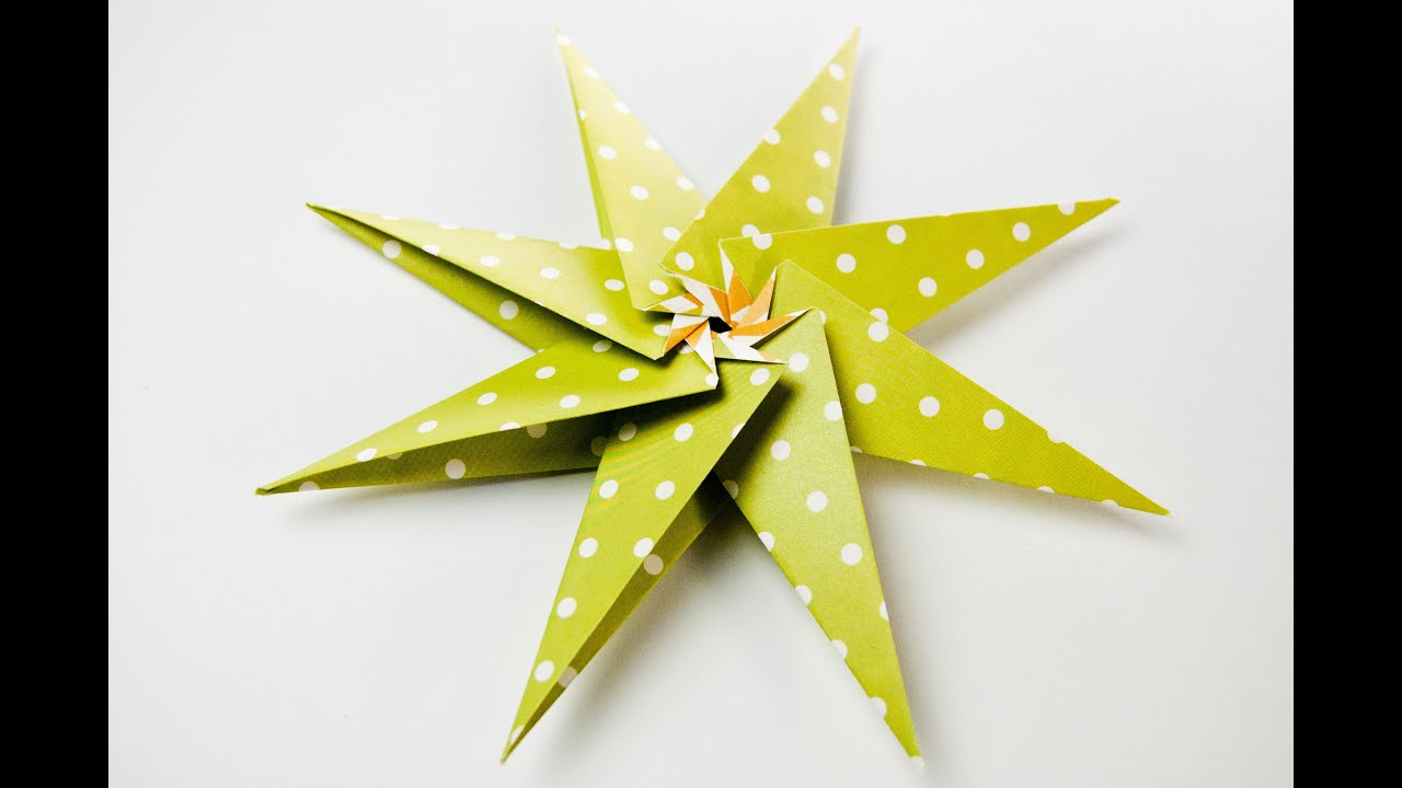 Origami Spiral Star Tutorial - Origami Easy - YouTube | 720x1280