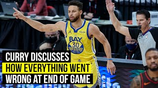 Curry says the Warriors let a win get away against the Blazers