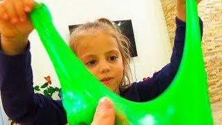 СЛАЙМ Челлендж КВЕСТ в доме для детей Смешиваем ЛИЗУНЫ Challenge for kids
