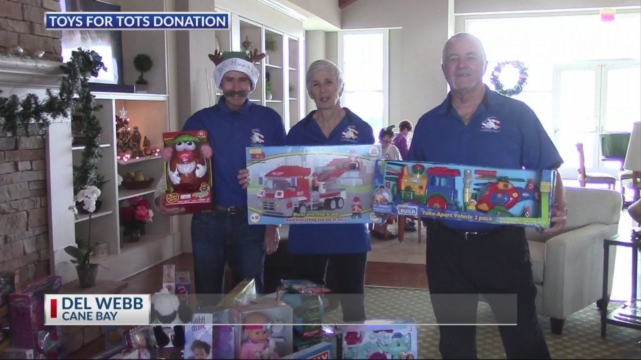 Toys For Tots Donation From Del Webb 2019 Youtube
