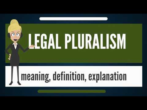 What is LEGAL PLURALISM? What does LEGAL PLURALISM mean? LEGAL PLURALISM meaning & explanation