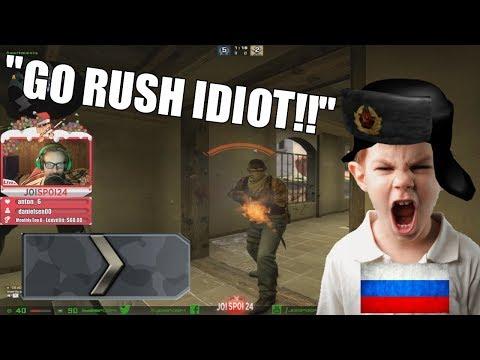 Toxic Russian Kid Has A Mental Breakdown In CS:GO Silver Matchmaking