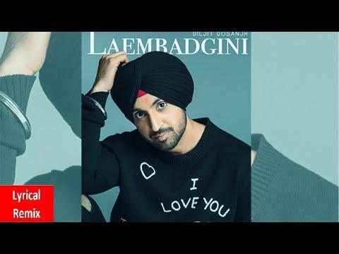Laembadgini (Lyrical Remix) | Diljit Dosanjh | Dj Hans | Latest Punjabi Songs 2019 | Speed Records