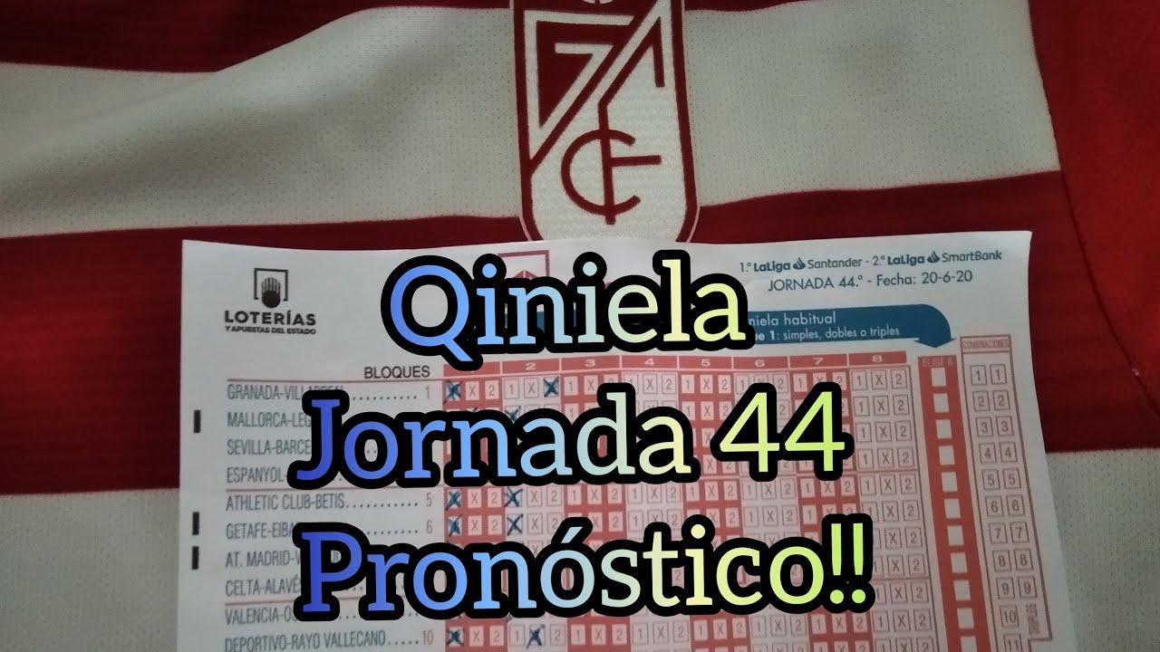 ✅ QUINIELA JORNADA 44 PRONÓSTICO DE LA SUERTE🍀