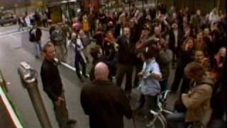 Concert in New York City street on flatbed truck , kicking off How ...