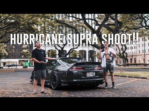 500hp CARBON FIBER SUPRA SHOOT IN HAWAII HURRICANE LANE