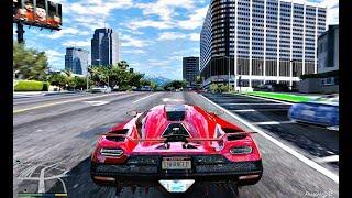 GTA V Cars Gameplay, Ultra Realistic Graphic ENB MOD PC