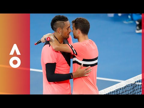 """Believe"" - Kyrgios' classy parting exchange with Dimitrov 