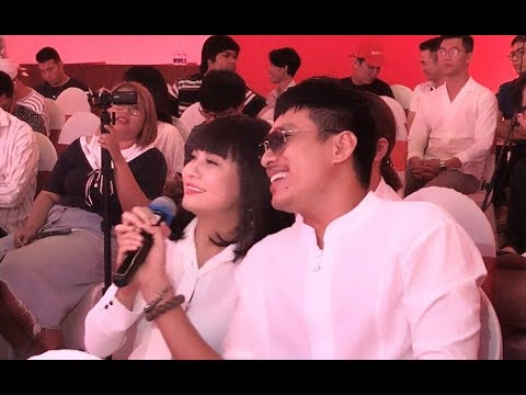 Kiều Minh Tuấn trả lời phỏng vấn ấp úng, Cát Phượng lấy mic nói thay
