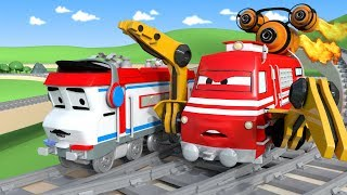 Troy The Train is the Speeding train in Car City | Cars & Trucks cartoon for children