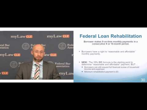 Federal Student Loan Rehabilitation