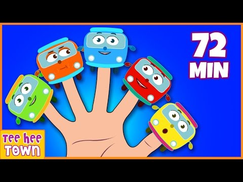 Wheels On The Bus | Finger Family Song | Bus Finger Family | Nursery Rhymes Collection | TeeheeTown