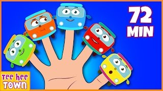 Wheels On The Bus Finger Family | Nursery Rhymes Collection | TeeheeTown