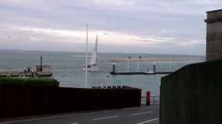 Isle of Wight - Sail Boat Entering Cowes Harbor