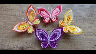 DIY/ Butterfly decoration/ Satin ribbon butterfly/ Kanzashi satin ribbon / Creative craft/ Handmade