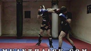 Тайский бокс Уроки - Смещение с линии атаки (тай сабаки, сайд степ)(В сегодняшнем видео по Тайскому боксу Уроки