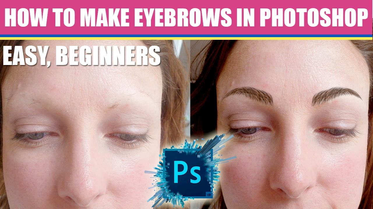 how to draw eyebrows photoshop