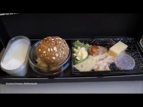 FULL FLIGHT KLM  Business class Trip report Amsterdam Bristol
