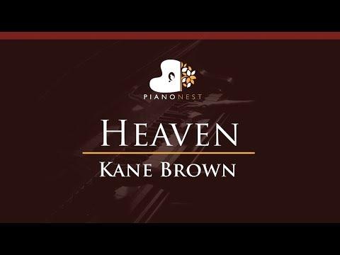 Kane Brown - Heaven - HIGHER Key (Piano Karaoke / Sing Along)