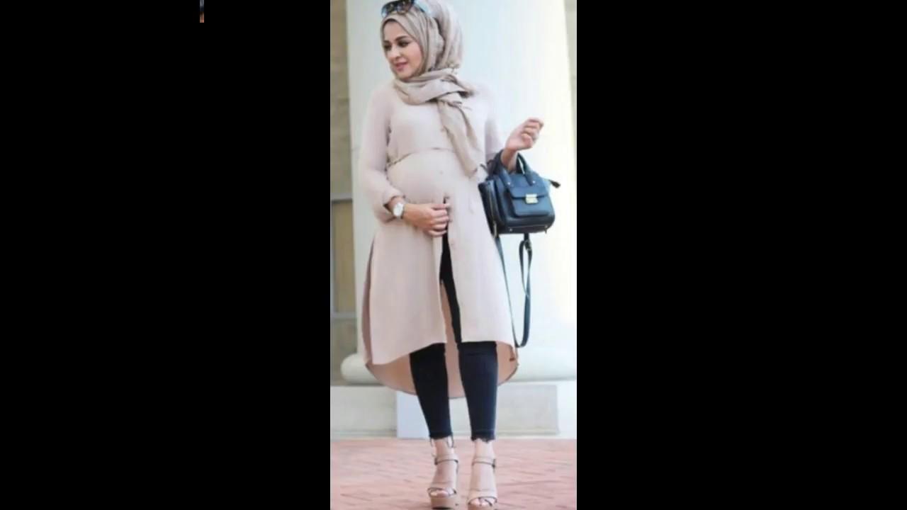 343562ae0a715 Trends fashion pregnant women ستايلات ملابس للمحجبات الحوامل   2018 ...