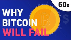 5 Facts Why Bitcoin will Fail (in 60 seconds)