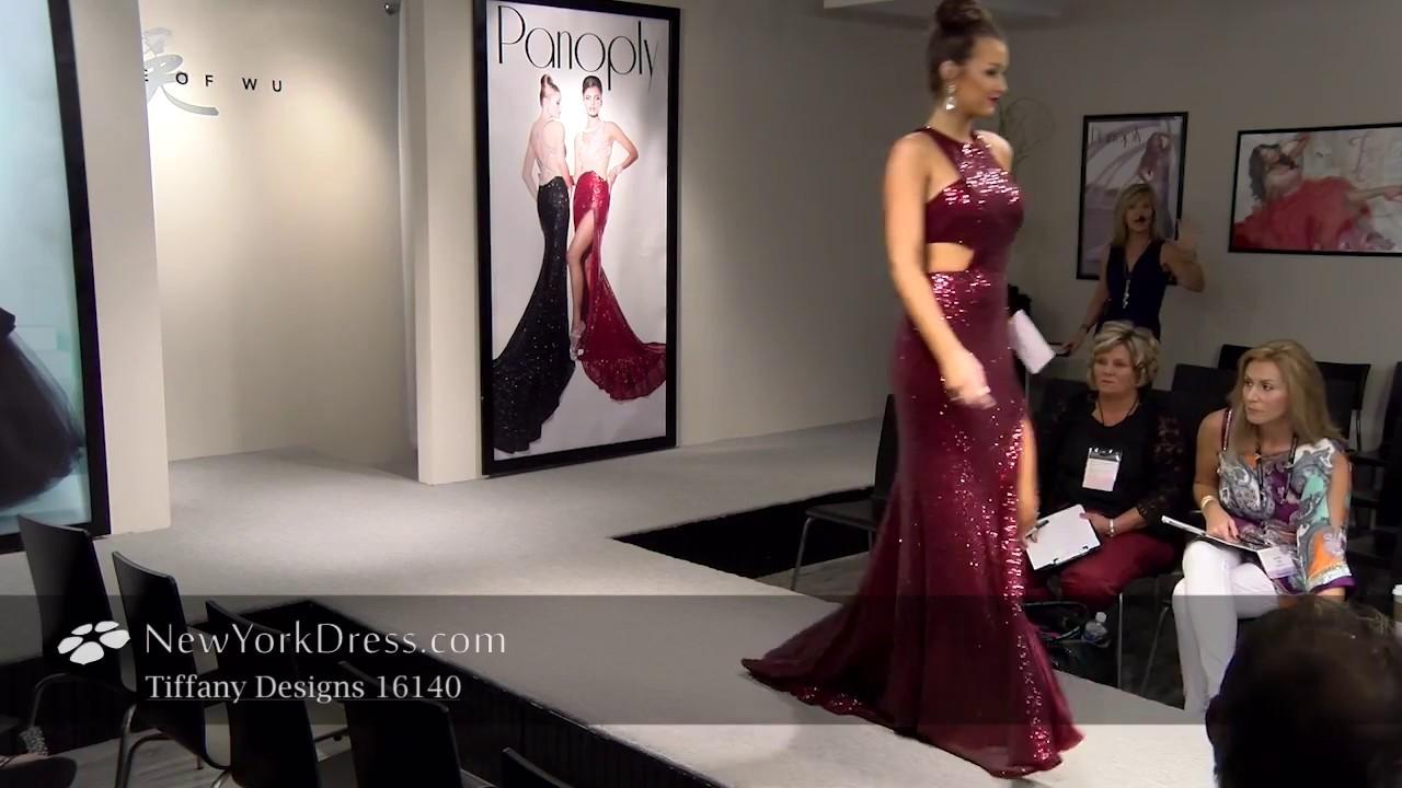 4a25659e9a5 Tiffany 16140 Dress - NewYorkDress.com - YouTube