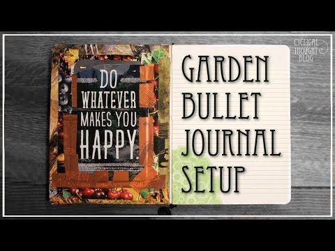Garden Bullet Journal Setup 2018