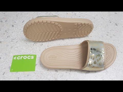 ОНЛАЙН ТРЕЙД.РУ Шлепанцы Crocs 205133-70F-W9 женские, цвет бежевый