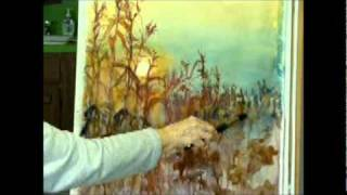 PAINTING CORNFIELD AT SUNSET By MILLIE GIFT SMITH 001