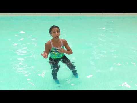 Aqua Aerobics Exercises  Shallow pool water Jog options with Marietta Mehanni