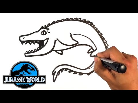 How to Draw a Mosasaurus from Jurassic World - Easy Pictures to Draw