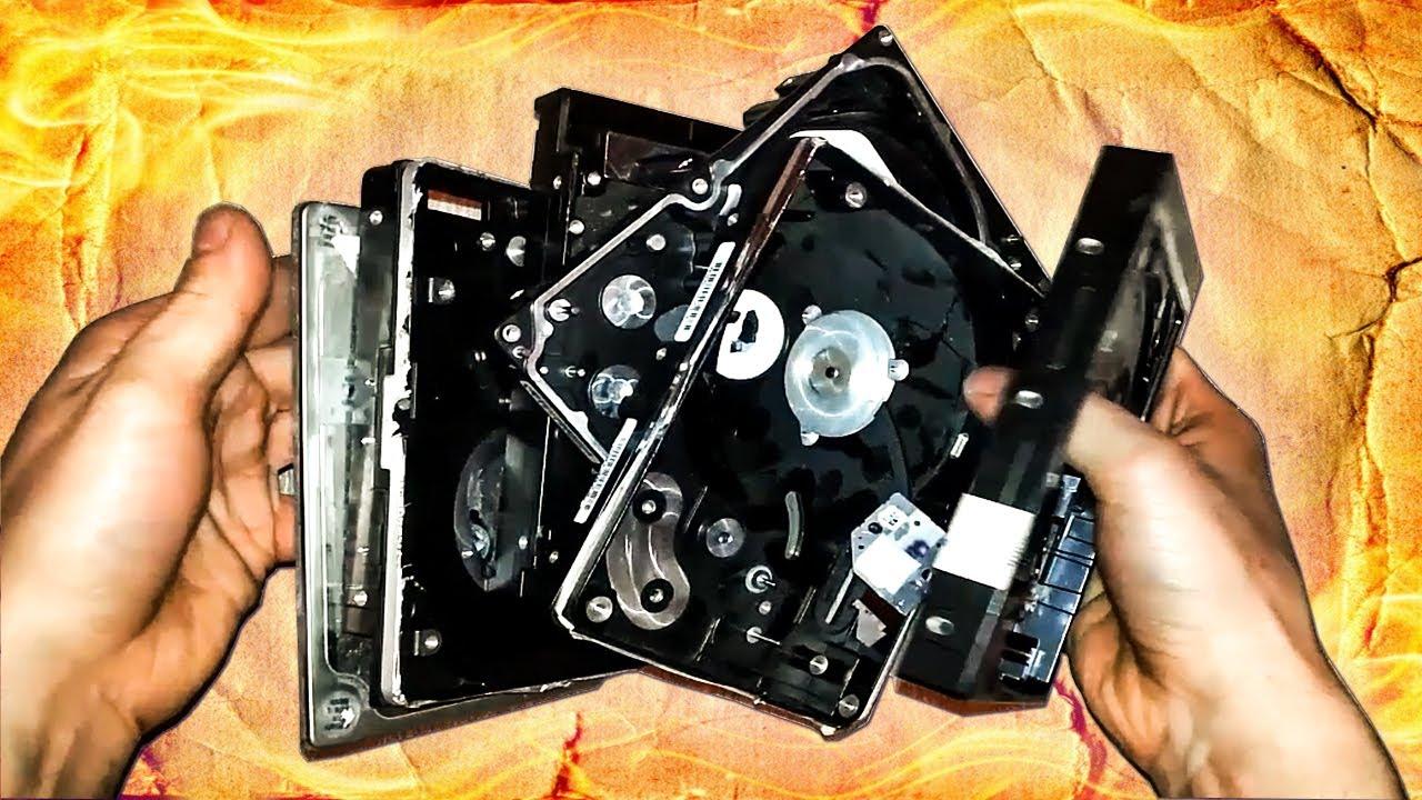 Самое необычное использование старых корпусов  HDD и SSD дисков