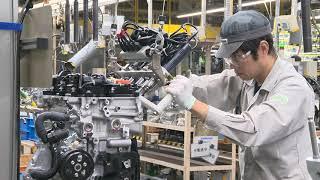 マツダ SKYACTIV-Xエンジン 生産ライン