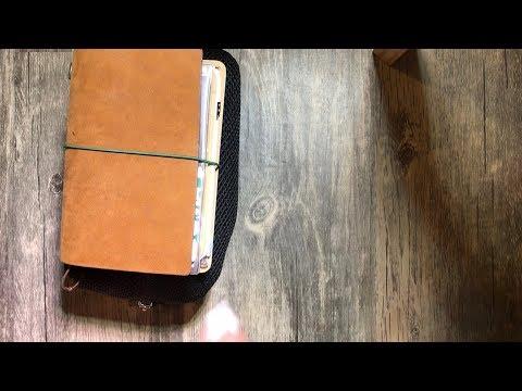 Travelers notebook setup & Essentials || my first video!