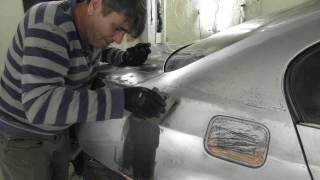 BMW e60 - кузовной ремонт (подготовка и шпатлевание)