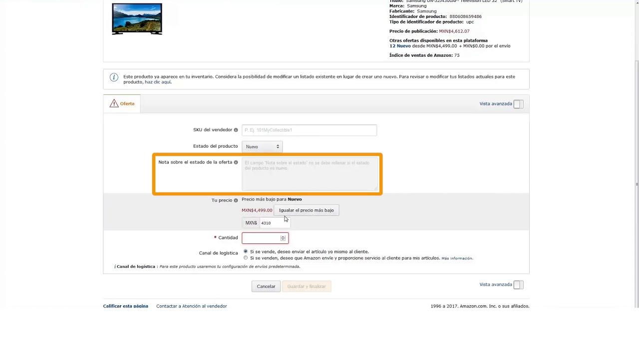 2ef421a891 Vender en Amazon | 4.2 Agregar un producto a un listado existente ...