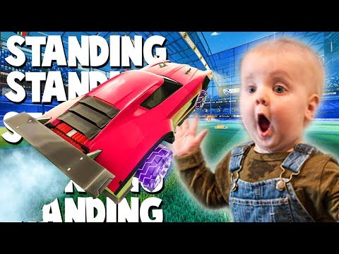 PLAYING ROCKET LEAGUE WHILE STANDING!