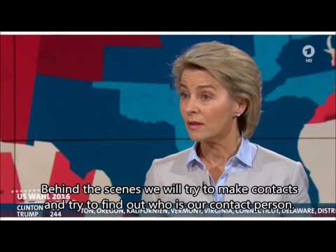 Von der Leyen reacts to Trump as elected President (english subtitles)