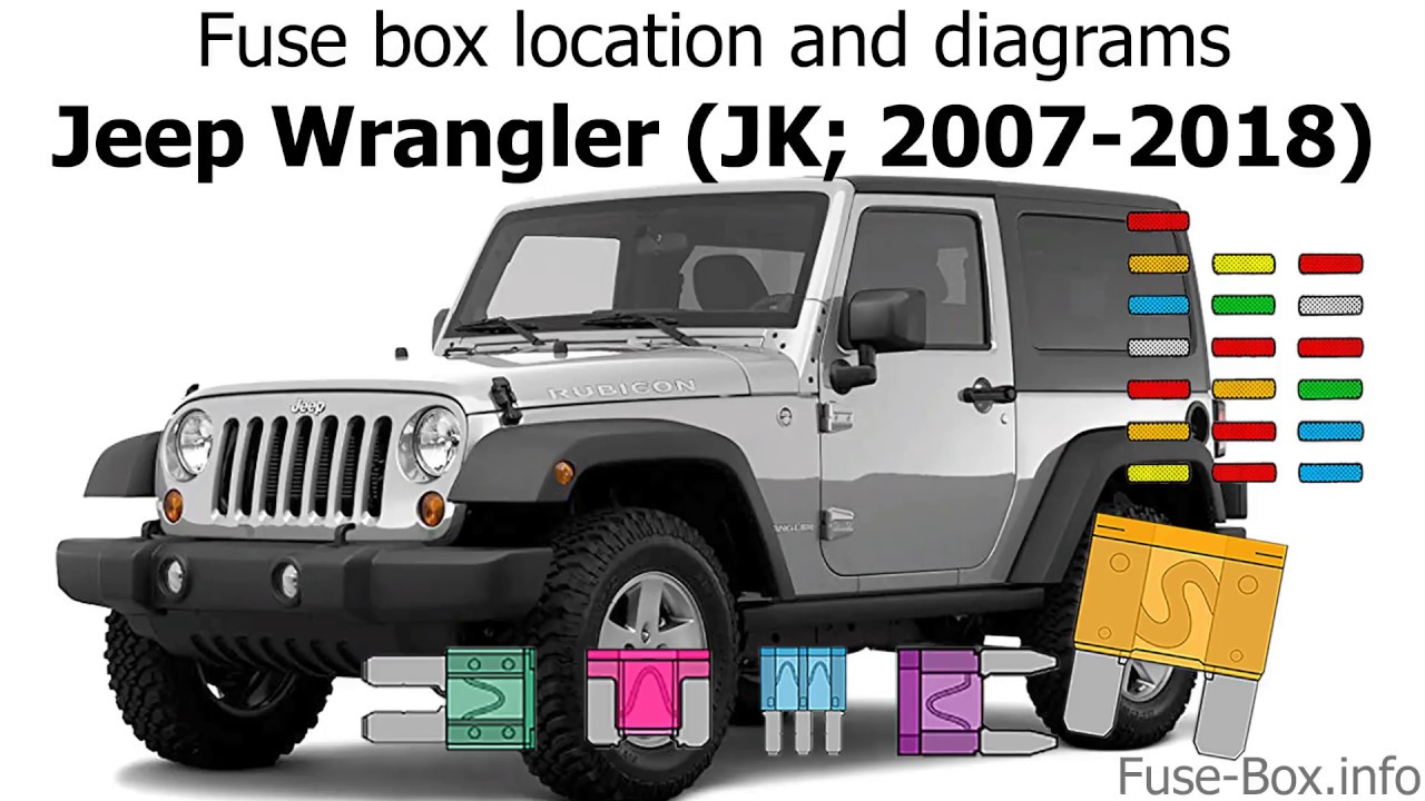 fuse box location and diagrams: jeep wrangler (jk; 2007-2018) - youtube  youtube