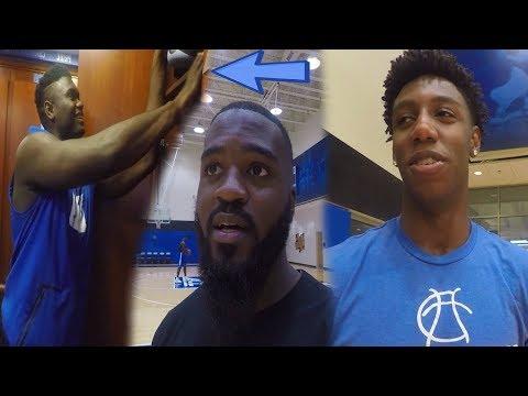 Zion Williamson Is Super HUMBLE! Shows Shoe Selection + More! Duke University Vlog!