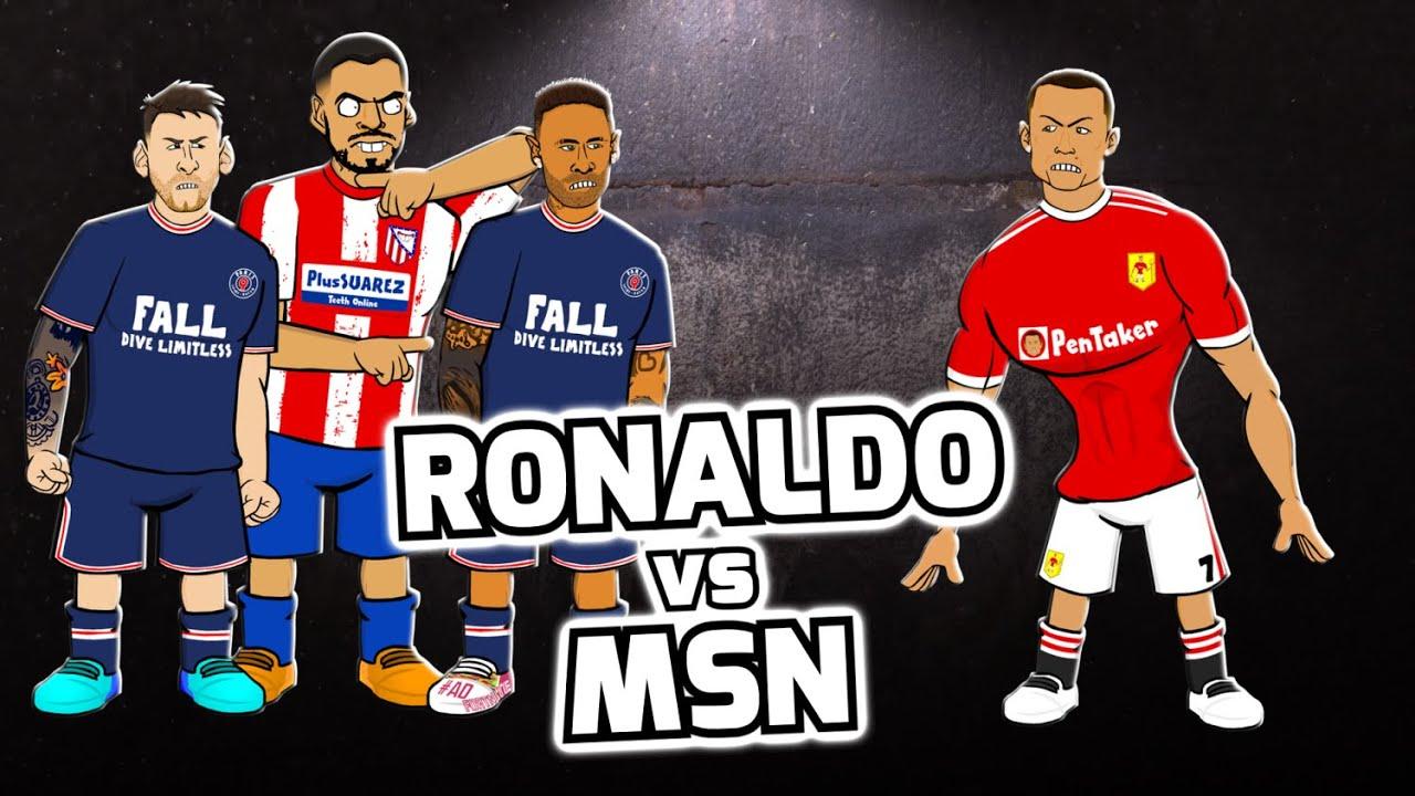 Download 🔥RONALDO vs MSN🔥 (Feat Messi, Neymar, Suarez and more! Football Challenges)