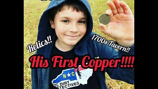 """Dirt Detectives Metal Detecting """"His First Copper"""""""