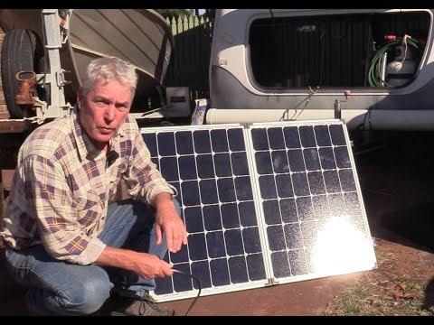 Episode 1. Caravan -  portable solar panels.