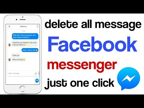 How To Delete All Facebook Messages In One Click On Android/delete Multiple Messages