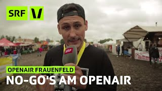 Download Openair Frauenfeld: No-Go's | Festivalsommer 2014 Mp3 and Videos