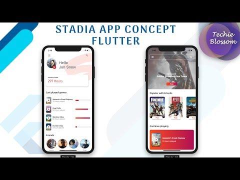 Flutter UI   Stadia App Concept - Full Tutorial