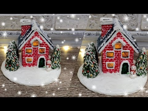 Поделка домик новогодний своими руками схема
